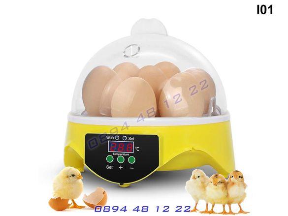Инкубатор 7 Яйца Яйце Люпилня Пилета Птичи Пиле Инкобатор Incubator