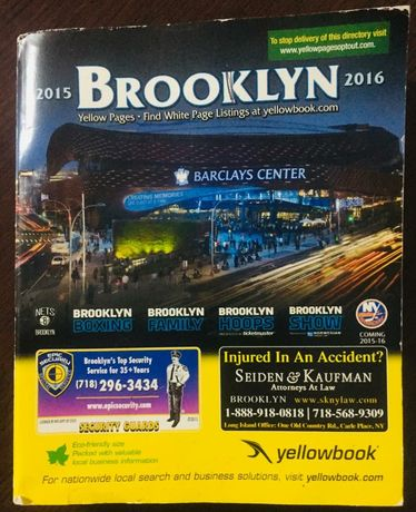 Carte Yellow Pages of New York