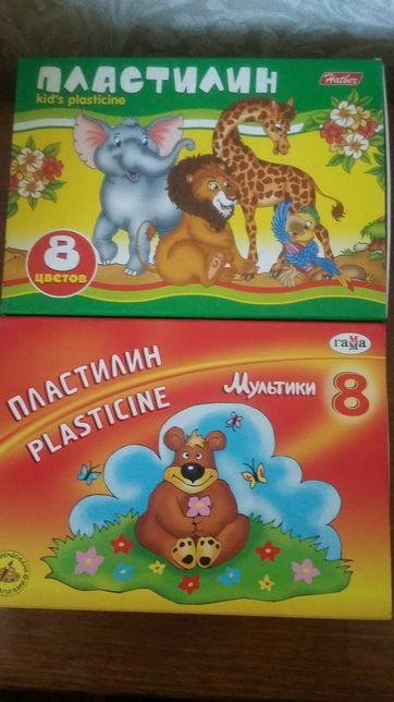 Продам пластилин 8 цветов