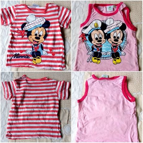 Minnie и Mickey MOUSE детски тениски за ръст 80см - Мики и Мини Маус