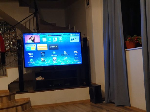 Home cinema Samsung - TV full HD 3D 140 cm & Sistem 5+1 3D Blue Ray
