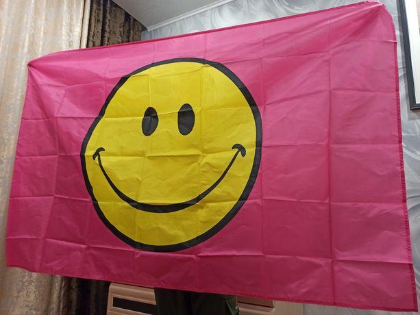 Флаг смайлик. Размер 150*90