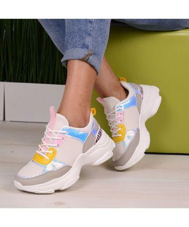 Pantofi Sport De Dama Alb Cu Roz