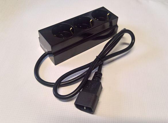 Изходен кабел за UPS с разклонител троен-1м.Цената е с вкл. ДДС