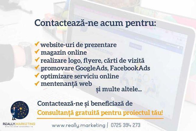 Creare site prezentare, magazin online, promovare, design continut