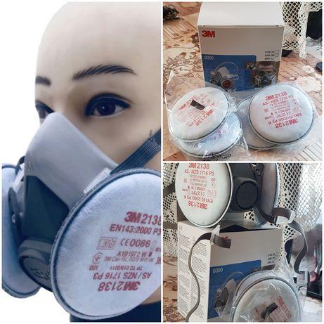 Masca 3M cu filtre pentru praf fum chimicale , filtre rotunde 2138 P3