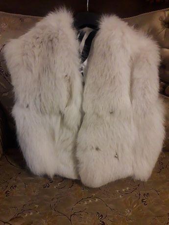 Vesta dama blana naturala vulpe