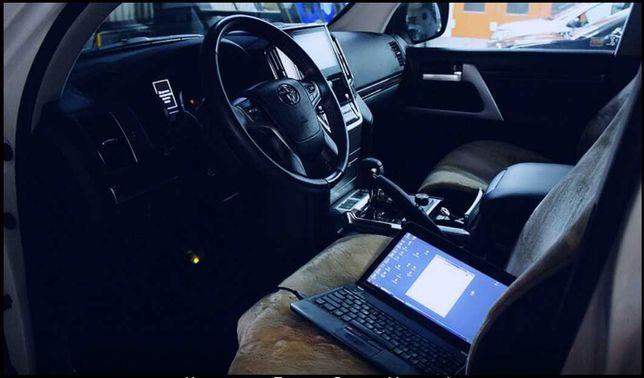 Диагностика электронных узлов автомобилей Toyota моложе 2000 года
