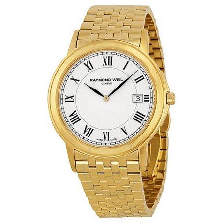 Мъжки часовник Raymond Weil Tradition White Dial Yellow Gold PVD
