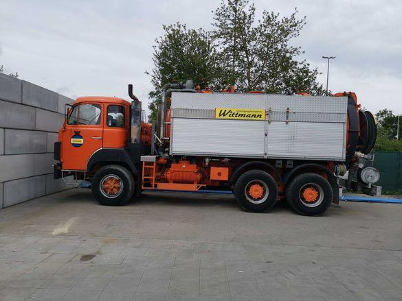 Камион за почистване на канализация и септични ями
