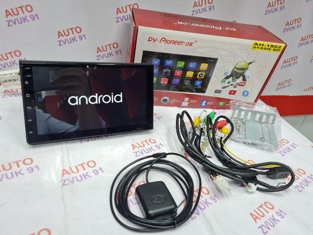Акция! Магнитола 2дин на Андроиде/Android. DSP. PIONEER!!  5D экран.