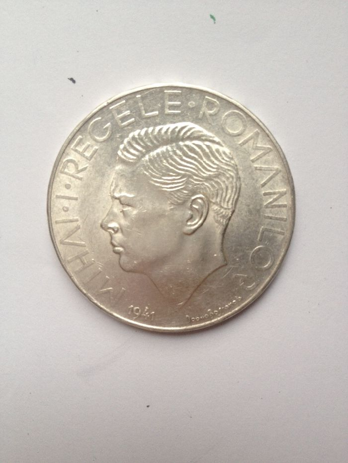Moneda argint Regele Mihai I cu STEFAN cel Mare 1941 valoare 495 lei