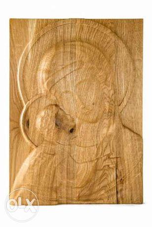 3D дърворезба икона - Мадоната с младенеца