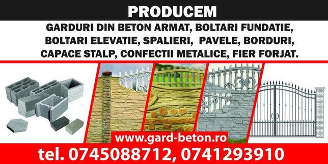 Gard placi beton garduri fier forjat boltari borduri capace coame