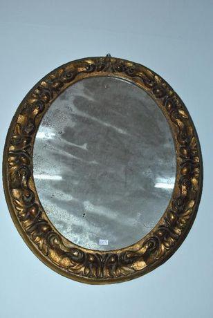 Veche oglinda ovala aurita ,sculptata,deosebita