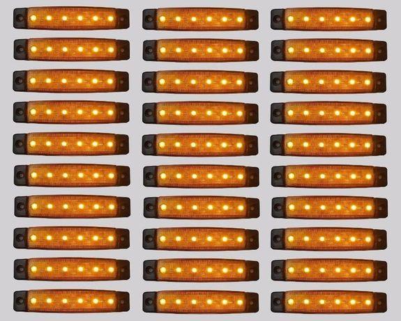 30 диодни габарита светлини за камион 12 ,24в нови кола бус с 6 диоида