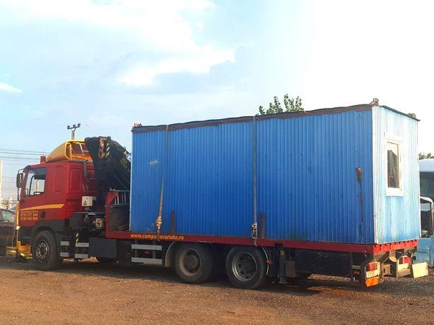 Transport container, camion macara containere, utilaje, inchiriat