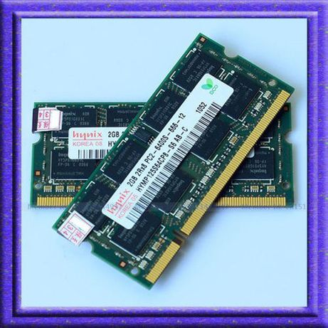 Kit RAM laptop sodimm 4GB DDR2 667MHz Hynix PC2-5300S - CL 5 - PROBA