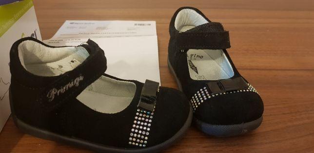 Pantofi piele Primigi, negri cu pietre, mărimea 20, interior 13,5 cm