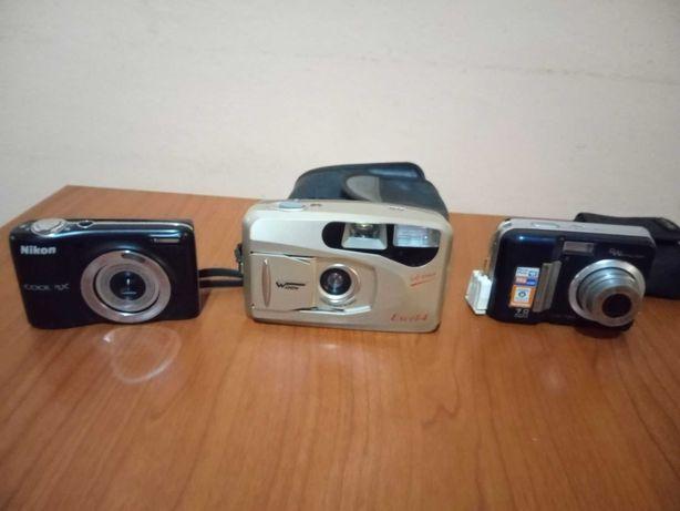 trei aparate foto