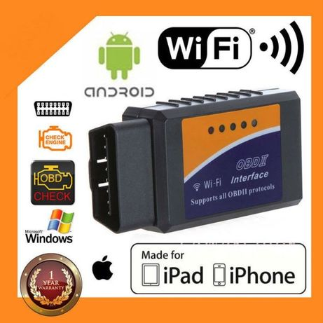 Промоция: OBDII elm327 wifi скенер + бонус