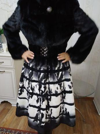 Норковая шуба.Французкое платье.Респектабельное. Элегантное.Новое.