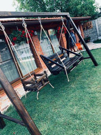 Balansoar de gradina si leagan pentru copiii din lemn