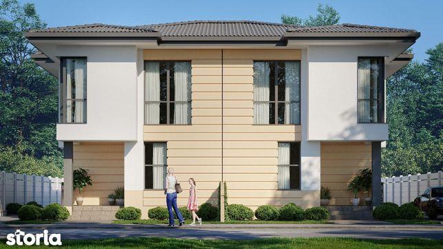 Vila tip duplex , P+1 , 136 mp + curte, Comuna Berceni