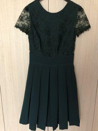 Rochie verde inchis eleganta