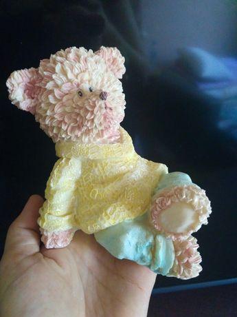 Копилка медведь розовый