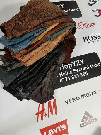 Depozit haine second hand vinde fuste/pantaloni  piele naturală