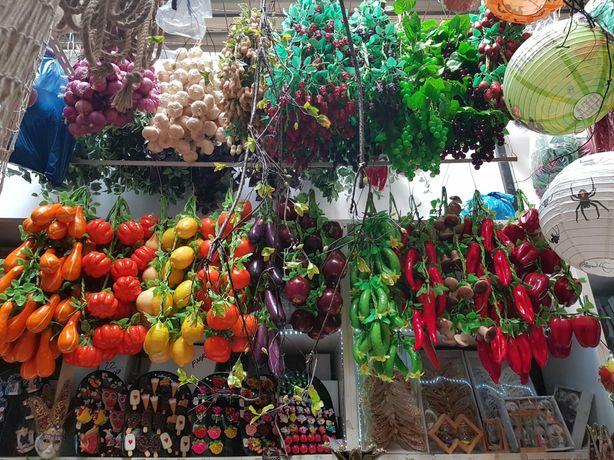 Funii,sirag legume si fructe artificiale, struguri