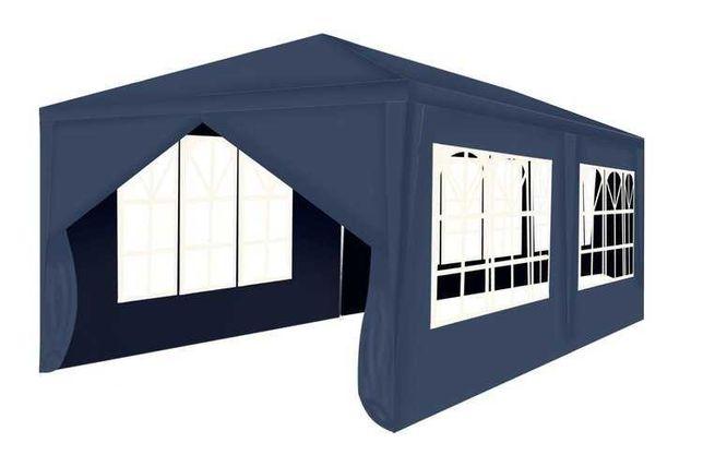 Cort Pavilion De Gradina, 3x6 M,6 Pereti  Ferestre, Albastru