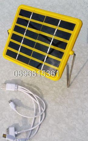 Соларна лампа със стойка и USB изход GD-5027