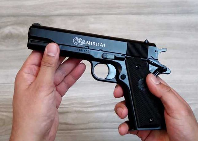 OFERTA!Pachet COMPLET Pistol Airsoft +5 CO2+2000BILE Upgrade 4jouli