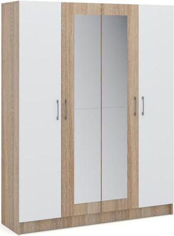 "Шкаф для одежды ""Алена  шкаф 4Д"" Дуб сонома белый. Венге/Дуб молочный"