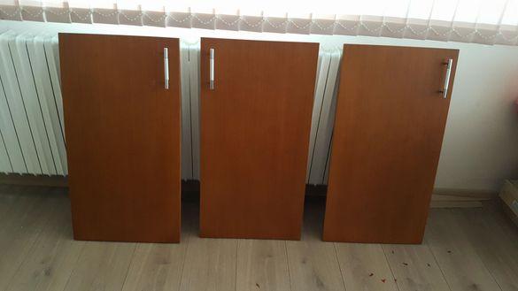 3 броя MDF вратички за шкафове, цвят -Златен дъб