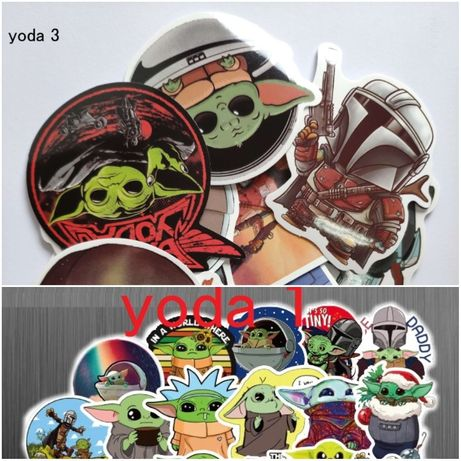 Set Stickere Baby Yoda The Mandalorian (telefon/ bicicleta / laptop)