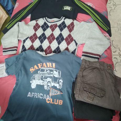 Lot pulovere ,pantaloni mār 122-128,tot lotul 100 lei ghete cadou