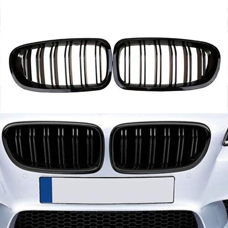 Grile M5 BMW Seria 5 F10 (2010-up) Negru Lucios Duble