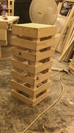 Дървен бар стол ръчна изработка