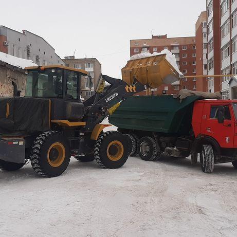 Вывоз расчистка уборка территорий от снега мусора погрузчики камазы