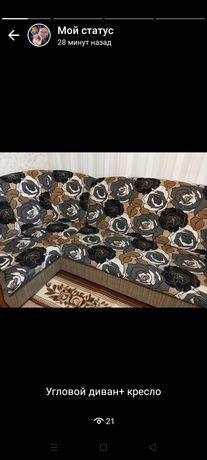 Продам угловой диван с креслой за 80000 тг.