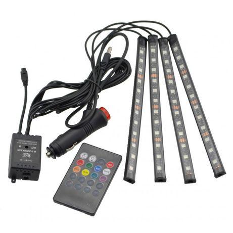 LED RGB Ленти за кола-4 Броя с Дистанционно