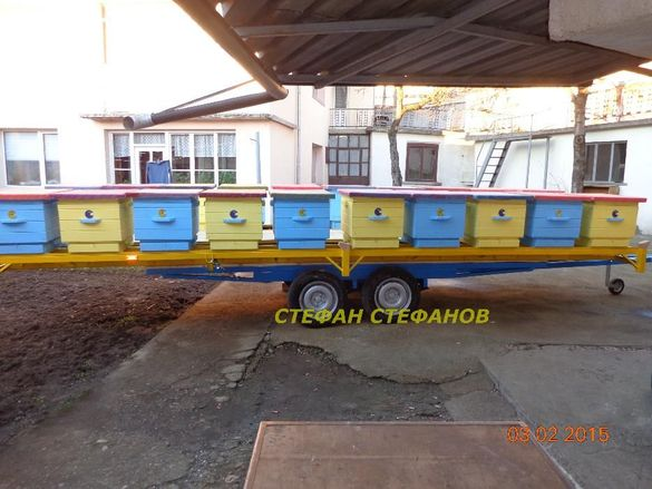 Пчеларска. Платформа с ( ДВЕ лица ) за пчелни кошери + колесар