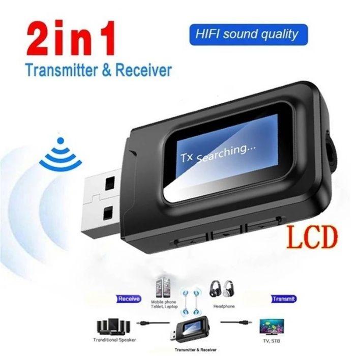 Bluetooth receiver - transmitter lcd pentru auto, casa ,model: WBT-355