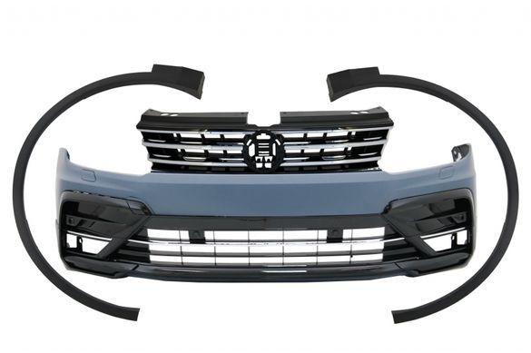 Предна броня + Раздувки калници за VW Tiguan II Mk2 (от 2016-) R-Lin