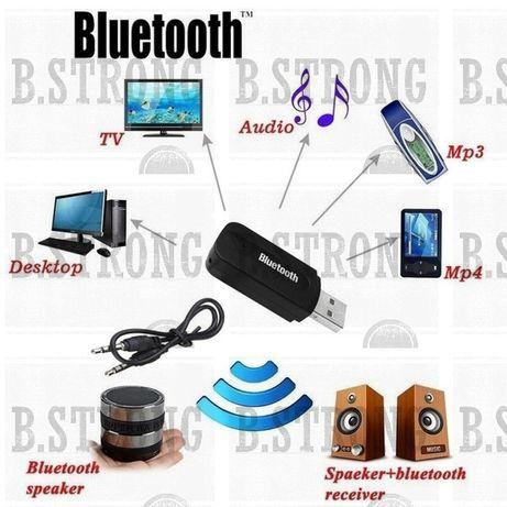 Stick auxiliar Bluetooth pentru muzica cu mufa jack si cablu