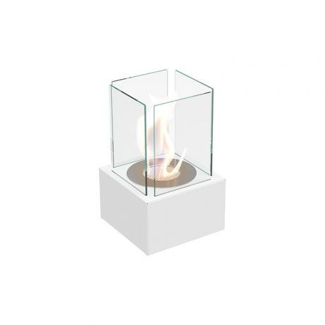 Semineu bioetanol mini prevazut cu geamuri laterale cu design special
