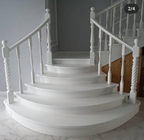 Изготовление, монтаж деревянных лестниц